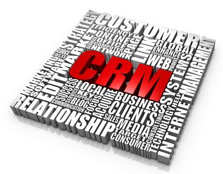 Group of CRM related words. Part of a business concept series. Stock Photo