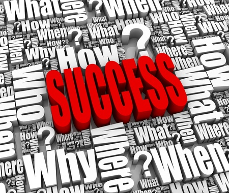 Group of success related 3D words. Part of a series. Stock Photo - 9569733