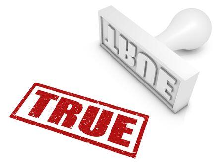 """Sello """"TRUE"""". Parte de una serie de sello."""