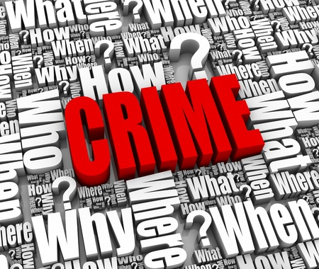 Group of crime related 3D words. Part of a series. Stock Photo - 9670790