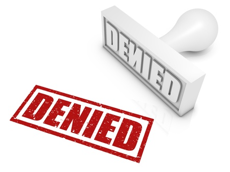 denied: DENIED rubber stamp. Part of a rubber stamp series.