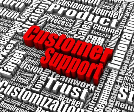 Group of customer support related words. Part of a business concept series. Stock Photo