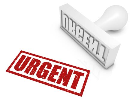 URGENT red rubber stamp. Part of a rubber stamp series. Stock Photo - 13886297