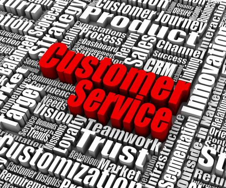 selling service: Group of customer service related words. Part of a business concept series. Stock Photo
