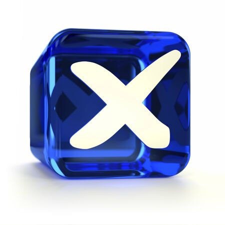 Blue cross mark computer icon. Part of an icon set. Stock Photo - 13895292