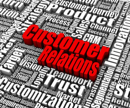 Group of customer relations related words  Part of a business concept series  Stock Photo - 14136483