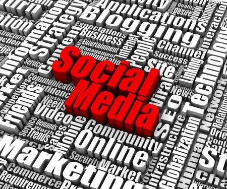 Group of Social Media related words. Part of a business concept series. photo