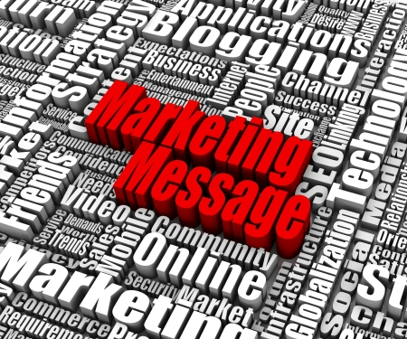 related: Group of Marketing Message related words. Part of a business concept series.