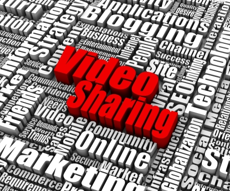 Group of Video Sharing related words. Part of a business concept series. Stock Photo