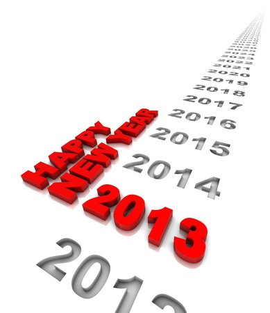 New year 2013 and the years ahead. Part of a series. Stock Photo - 15255277