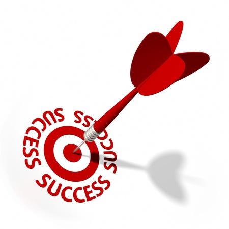 dart series: Target and dart with circular text. Part of a series.
