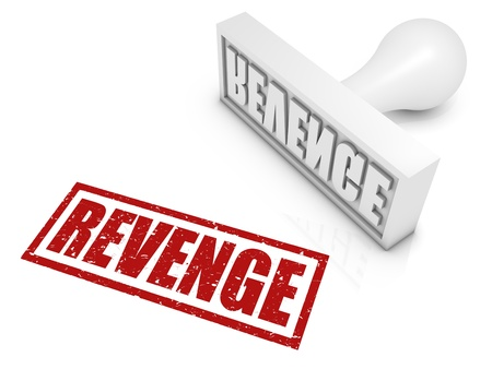 venganza: VENGANZA sello de goma. Parte de una serie de conceptos de sellos.