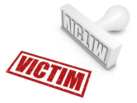 victims: VICTIM rubber stamp. Part of a series of stamp concepts.