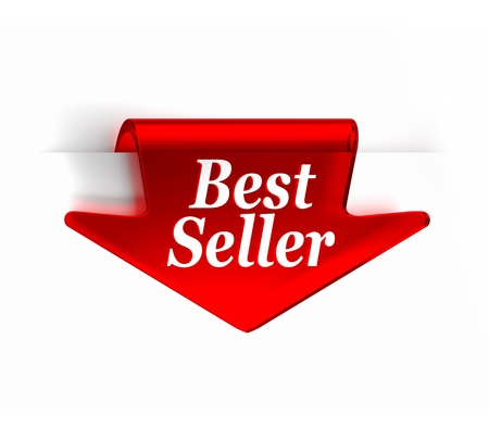 Red glass top arrow bookmark  Part of a series Stock Photo - 15873882