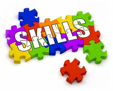 talents: Pi�ces de puzzle en 3D � la partie du texte d'une s�rie