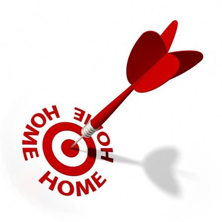 dart series: Target and dart with circular text  Part of a series  Stock Photo