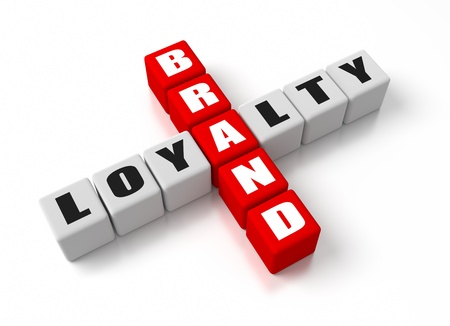 Brand Loyalty crosswords  Part of a business concepts series  photo