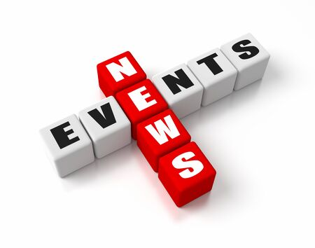 media event: News Events crosswords  Part of a business concepts series  Stock Photo
