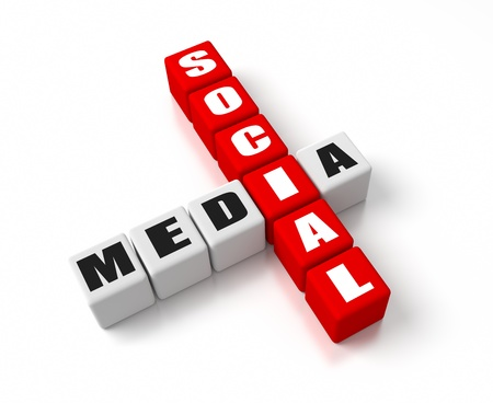 Social Media crosswords  Part of a business concepts series  photo