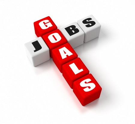 Goals Jobs crosswords. Part of a business concepts series. photo