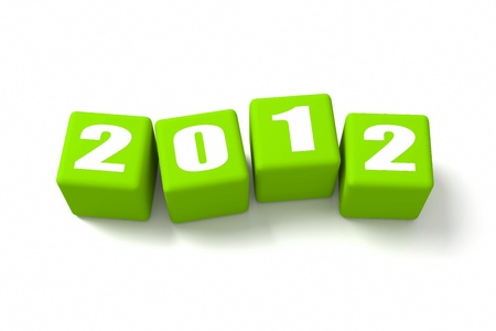 buzzwords: New Year 2012 on Green cubes