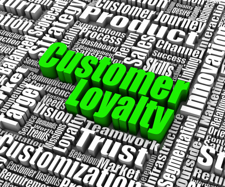 loyalty: Group of customer loyalty related words. Part of a business concept series. Stock Photo