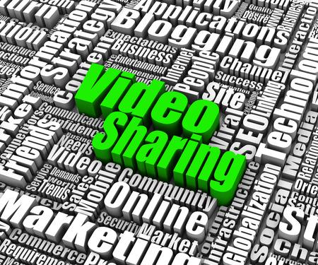 video sharing: Group of Video Sharing related words. Part of a business concept series. Stock Photo