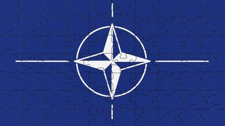 north atlantic treaty organization: Complete flag jigsaw puzzle.