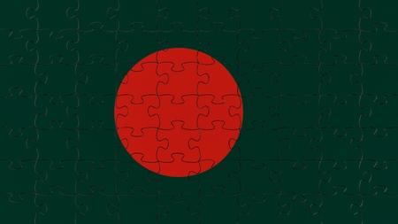 bangladesh 3d: Complete flag jigsaw puzzle.