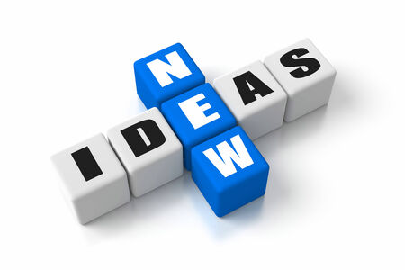 new idea: New Ideas crosswords Stock Photo