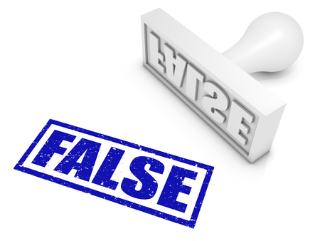 untrue: FALSE rubber stamp Stock Photo