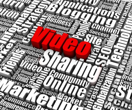 Group of Video Sharing related words Stok Fotoğraf