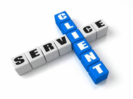 client service: Client Service crosswords Stock Photo