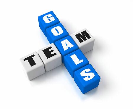 crosswords: Team Goals crosswords Stock Photo