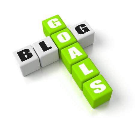 Blog Goals crosswords. Part of a business concepts series. photo