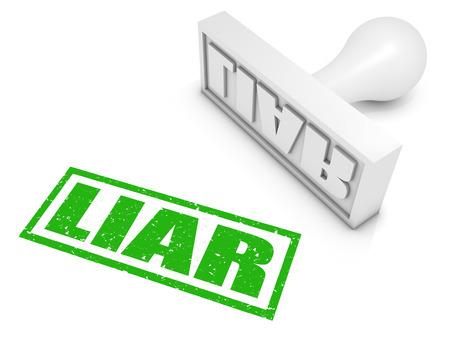 deceptive: Leugenaar Rubberstempel. Deel van een serie van stempel concepten. Stockfoto