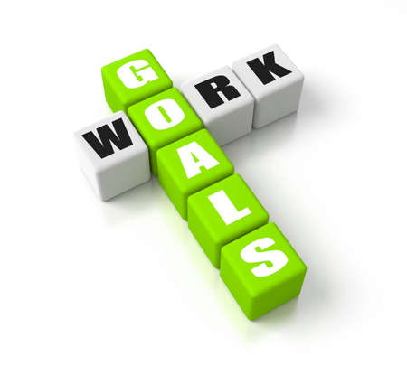 Work Goals crosswords. Part of a business concepts series. photo