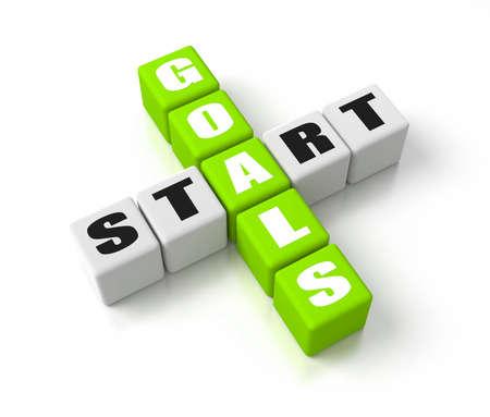 Start Defining Goals crosswords. Part of a business concepts series.