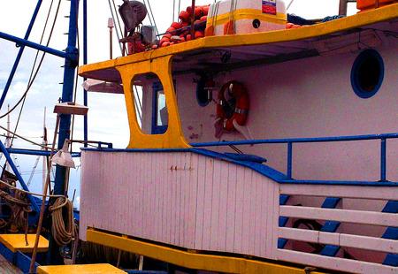 Angeln Trawler bereit für Meer Standard-Bild - 80768891