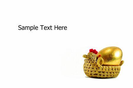 golden egg in the hen photo