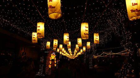 bangkok NIGHT: Bangkok night festival Stock Photo