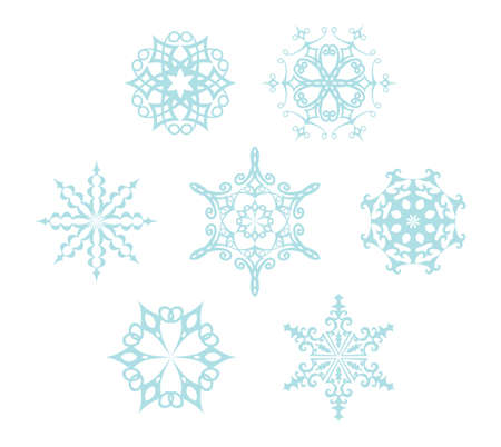 Set of snowflakes Stock Vector - 24589625