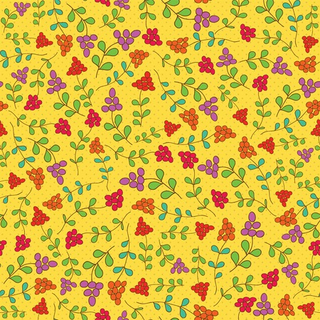 Summer Berries Seamless Pattern Vector