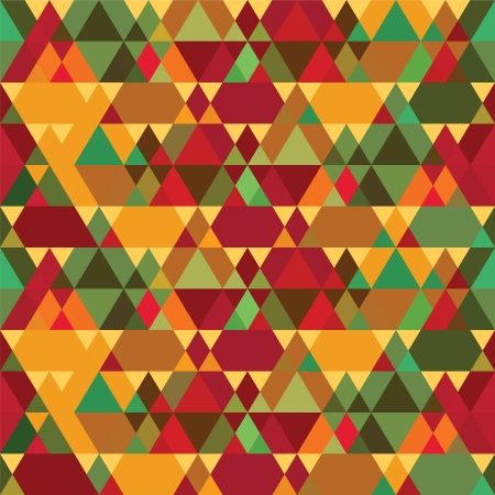 Triangles Vintage Abstract Seamless Pattern Vector
