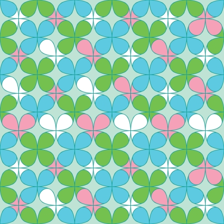 repeated: Clover Seamless Pattern for St. Patricks day