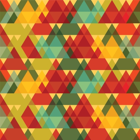 Triangles Vintage Seamless Pattern Vector