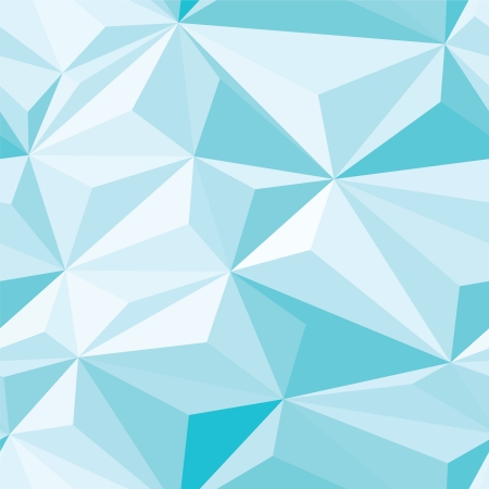 crystallization: Ice Blue Crystals Seamless Pattern