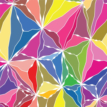 Crystals Seamless Pattern with Different colors Vector