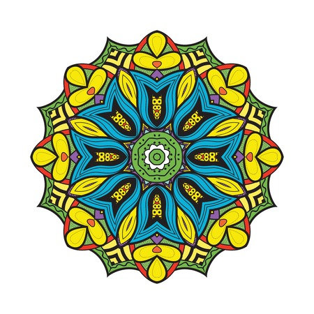 Bellflower mandala. Vector format. Isolated Vector