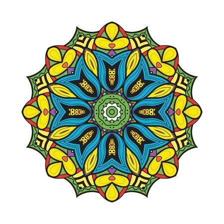 bellflower: Bellflower mandala. Vector format. Isolated Illustration